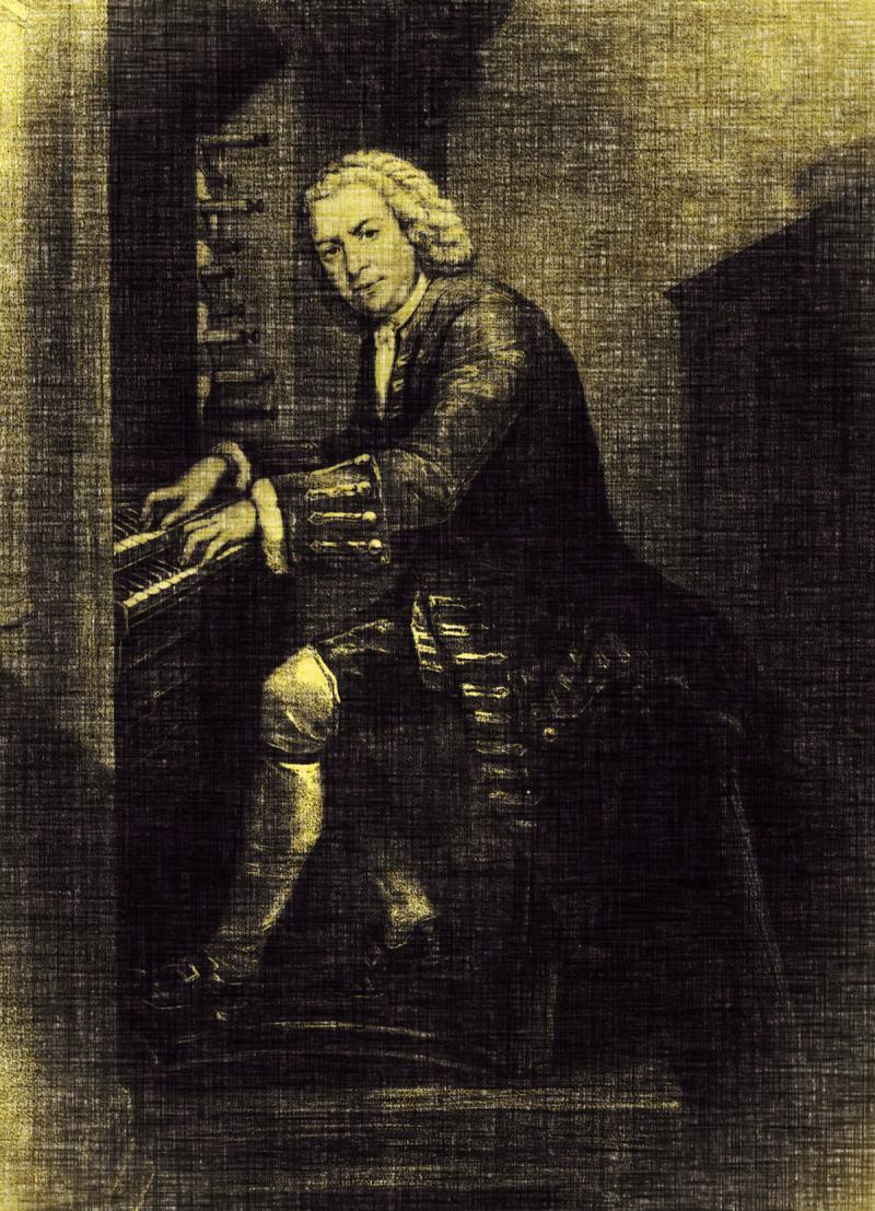 Johann Sebastian Bach at the keyboard